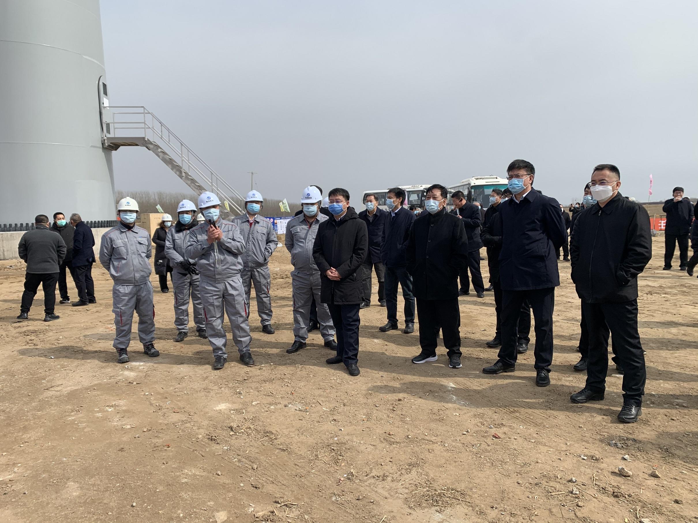 昌黎县领导莅临山东万博ManBetX手机版客户端昌黎滦河口风电项目参观指导